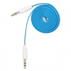 Universal 3.5mm Male to Male Flat Audio Cable - Blue + White (120 CM)