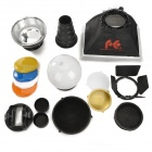 Falconeyes Universal Speedlite Accessories Set for Nikon / Canon + More - Black