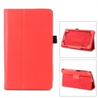 Stylish Flip-open Durable Sheep Skin Case w/ Holder for Google Nexus 7 II - Red
