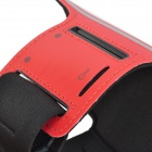 Stylish Sports Gym PVC + Neoprene Armband Case for Samsung Galaxy Mega 6.3 i9200 - Black + Red