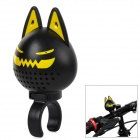 Mini Demon Pattern Buzzer Bell + Rearview Mirror Kit for Bicycles - Black + Yellow
