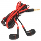 OMASEN OM-M6 In-Ear Stereo Earphone w/ Microphone / Flat Cable for Iphone / Samsung - Black + Red