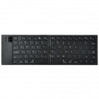 Handheld Folding  Bluetooth 3.0 80-Key Wireless Keyboard - Black