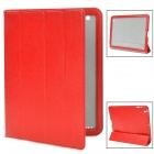 L.LA E-BAG-04 Protective PU Leather Holder Smart Case for iPad 4 - Red