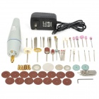 WLXY P-600 80-in-1 PVC + Aluminum Alloy Electric Drill / Grinder Set - Silver