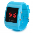 Fashion Square Digital LED Wrist Watch - Blue (1 x CR2032)