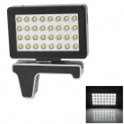 Rechargeable 2W 5200K 32-LED White Video Shooting Light for Iphone 4 / 4S - Black