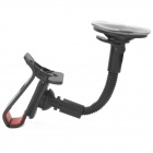 360 grados de rotación Clamp Car Mount Arm Holder w / ventosa para el Iphone / Samsung / HTC