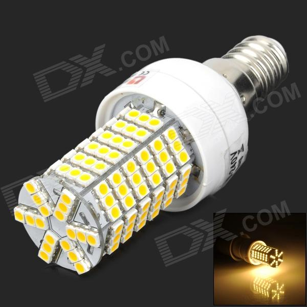 купить Lexing LX-YMD-008 E14 4W 400lm 3500K 144-3528 SMD LED Warm White Light Lamp - White + Yellow недорого