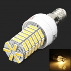 Lexing LX-YMD-008 E14 4W 400lm 3500K 144-3528 SMD LED Warm White Light Lamp - White + Yellow