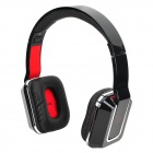 DICSONG DS-8802 Rectangular Retro Style Headset w/ Microphone - Black + Silver + Red