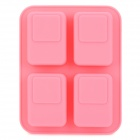 SP0041 Angle Style 4-Component Cake Pizza Chocolate Trays Maker DIY Mould - Pink