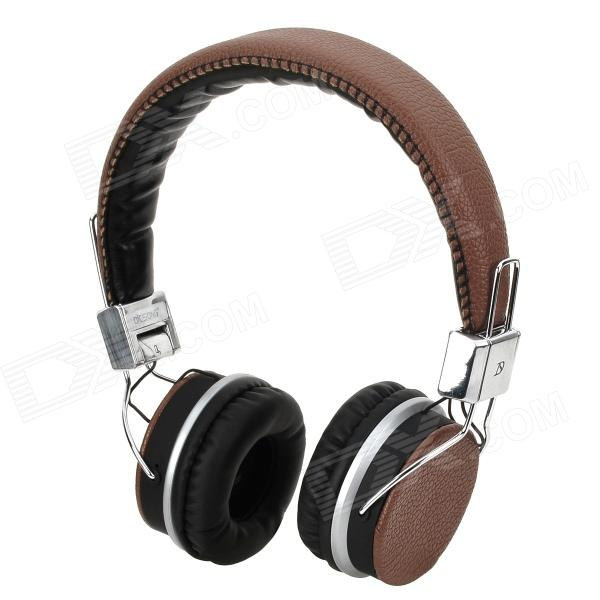 DICSONG DS-816 Stylish Headset w/ Microphone - Brown + Silver + Black dicsong cd 811 stylish headphones black silver 3 5mm plug 198cm