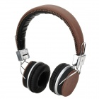 DICSONG DS-816 Stylish Headset w/ Microphone - Brown + Silver + Black