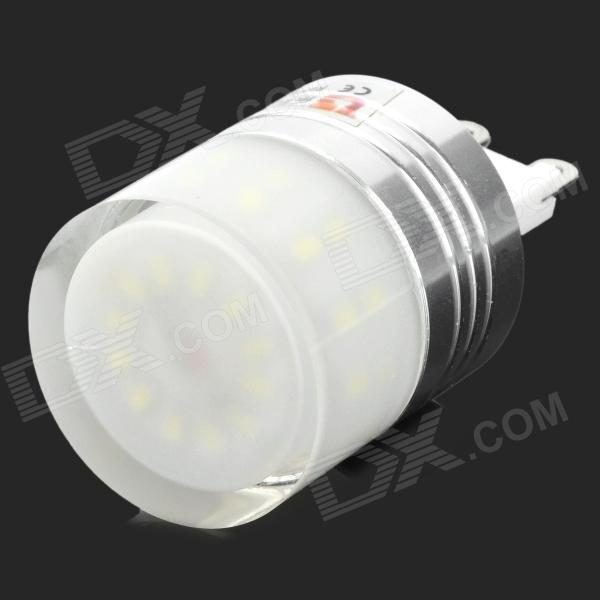 Lexing LX-YMD-034 G9 3W 250lm 6500K 36-3014 SMD LED White Light Bulb - White + Silver