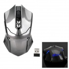 ET X-08 2.4GHz Wireless USB 2.0 500 / 1000 / 1500 / 2000dpi Optical Gaming Mouse - Greyish Black