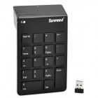 Sunreed L03 Tragbare 2.4GHz Wireless Digital 18-Key Keyboard - Schwarz (1 x AAA)