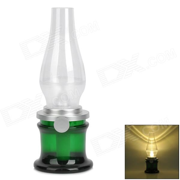 YGH-390 Rechargeable 3W Blowing Control LED Yellow Light Lamp - Green + White