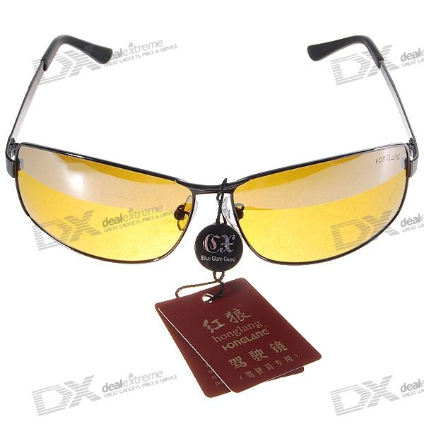 UV400 Polarized Glare-Guard TAC Alloy Frame Driving Sunglasses