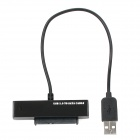 "USB 2.0 to SATA 22pin Connection Cable for 2.5"" HDD - Black (25cm)"