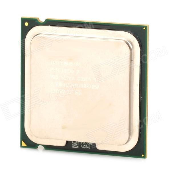Intel Pentium D 95W 775pin Dual Core 3GHz CPU - Green + Silver + Yellow (Second-Hand) процессор other intel e6700 3 2g 775 cpu