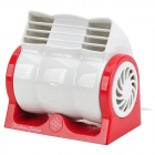 Fashlan Staom D5336A USB 2.0 Mini Mute Desktop Fan - Red + White