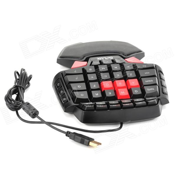 Delux T9 USB 2.0 Wired Gaming 46-Key Keyboard w/ 3-Mode LED Backlight ...