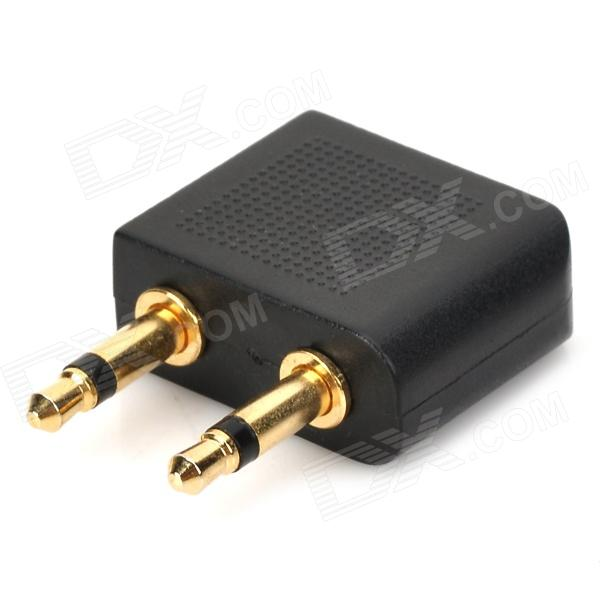 Mm double male to female stereo plug adapter