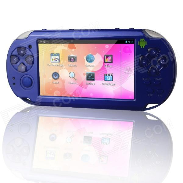 RuiQ BM-C6000 4.3 Android 4.0 Game Consoles Media Player w/ Wi-Fi / HDMI / TF - Blue derek james android game programming for dummies