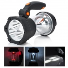 SORBO RW-1099 Hand-Cranking 3 + 10 White 5 Red LED Camping Lantern - Black + Orange