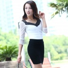 LC71029-2 New Female Fashion Thick Fold Tight-fitting Skirt - Black (Free Size)