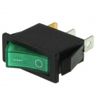 Rocker Switch 3-Pin ON / OFF - Green (15A, AC 250V / 20A, AC 125V)
