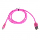 Lightning 8-Pin Male to USB 2.0 Male Data Sync / Charging Cable for iPhone 5 - Deep Pink (102cm)