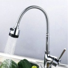 YDL-F-0507 Kitchen Sink Hot / Cold Arbitrary Rotation Multifunction Faucet - Silver + Black