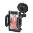 Universal 180 Degree Rotational Car Mount Holder w/ Suction Cup for GPS - Black