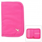 Komfortable Durable Water Resistant Poly Card / Passport / Handytasche / Geldbeutel - Deep Pink