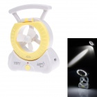 KMS KM-680 Multifunction 1.8W 200lm 6000K 22-LED White Light Fan Lamp - Yellow + White (US Plug)