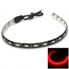 Waterproof 7.2W 20lm 630nm 18-SMD 5730 LED Red Light Car Decoration Strip (12V / 30cm)