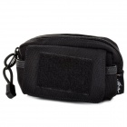 Free Soldier FS-08 Mini Outdoor Multifunctional 1000D Nylon Waist Bag - Black