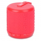 DOSS XUANFENG3 Outdoor Sporty TF Card 2-CH Bluetooth Speaker w/ Microphone - Deep Pink + Gray (32GB)