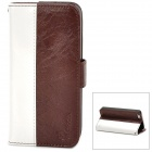 MODBI UC04APIP5 Protective PU Leather Case w/ Screen Protector for Iphone 5 - Brown + White