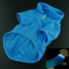 Flash Pet Cotton Clothing - Blue (Size-L / 1 x CR2032)