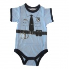 Doomagic Unique Police Style Cotton Baby's Infant Romper Cloth - Blue