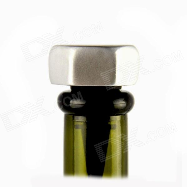 CLF 0732 Food Grade Silicone Creative Bolt Wine Bottle Stopper - Silver + Black (Size L) 1kg l methionine food grade 99% l methionine