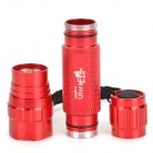 UltraFire 500lm 3-Mode Memory White Flashlight w/ Cree XM-L2 T6, Bicycle Mount - Red (1 x 18650)