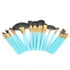 MAKE-UP FOR YOU Professional Cosmetic Makeup Brushes Set - Blue + Golden (20 PCS)