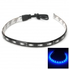 Waterproof 7.2W 30lm 475nm 18-SMD 5730 LED Blue Light Car Decoration Strip (12V / 30cm)