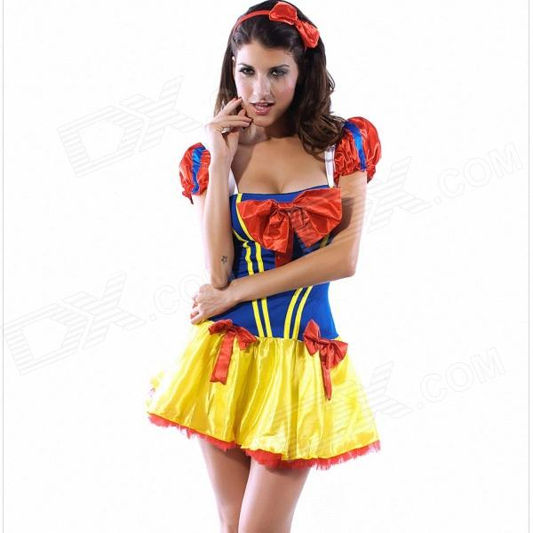 Red blue yellow dress