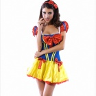 Sexy Princess Dress Uniform - Red + Yellow + Blue (Free Size)