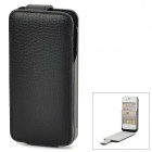 iFans EL-IP4-02 External 1450mAh Power Battery w/ Lychee Pattern Case for iPhone 4 / 4S - Black